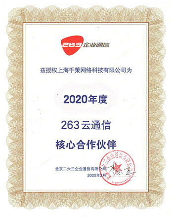 263云通信2020核心合作伙伴